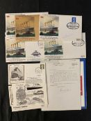 R.M.S. TITANIC: First day covers and other ephemera, some signed by survivors Edith Haisman and
