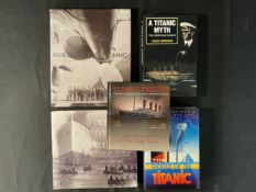 BOOKS: R.M.S. Titanic related modern volumes to include The Maiden Voyage and Lights. (Approx. 22)