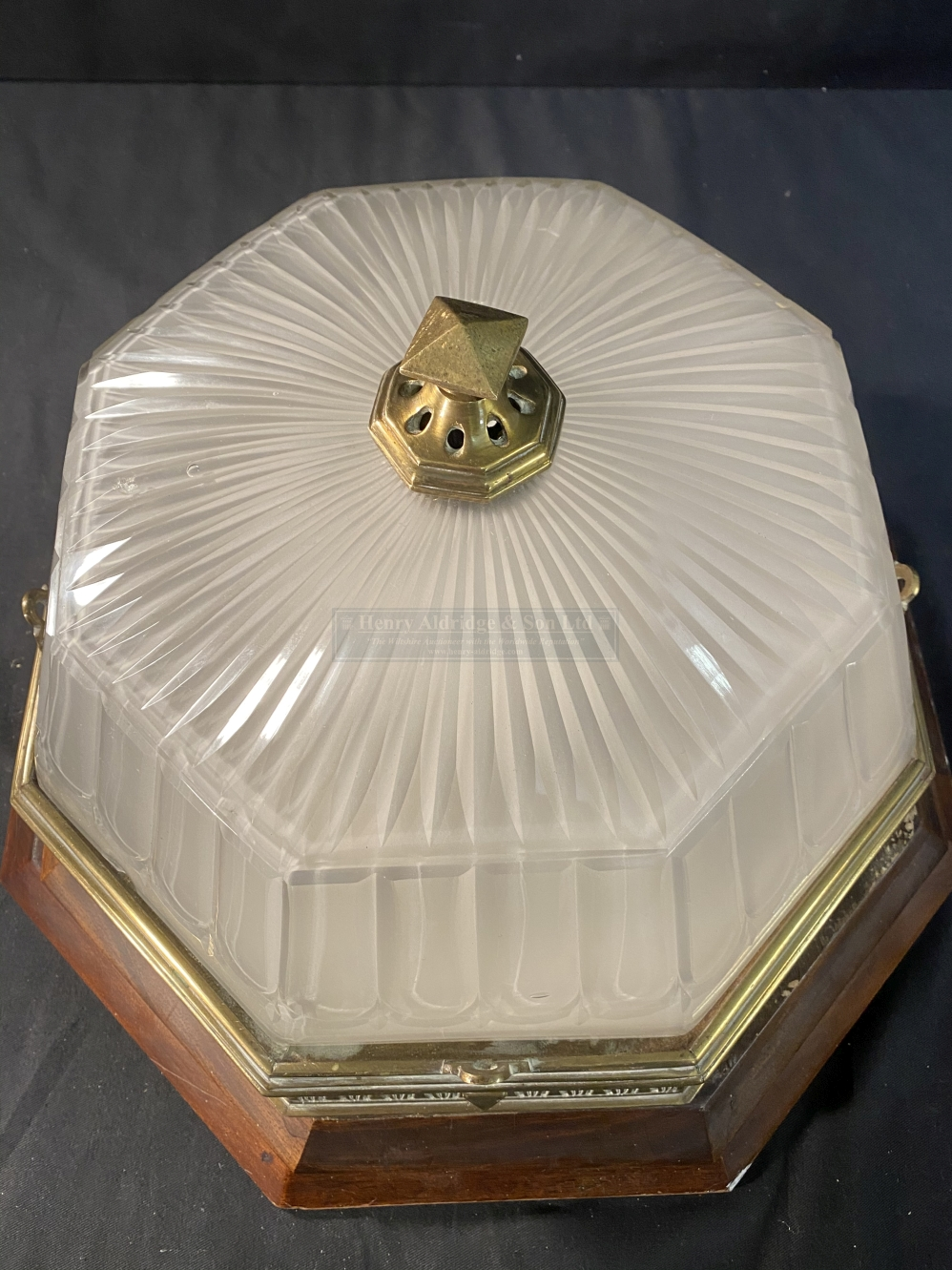 R.M.S. OLYMPIC: A superb octagonal ceiling light from the First-Class Dining Room/D Deck - Image 5 of 6