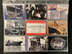 R.M.S. TITANIC: Modern reprints and collectables related to the Titanic disaster, a large box.
