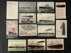 OCEAN LINER: S.S. Empress of Ireland real photo and other postcards. (13)