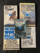 BOOKS: R.M.S. Titanic related titles including, The Wonders Exhibition, Titanic in Postcards, and
