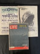 OCEAN LINER: Printed ephemera to include The Graphic dated April 20, 1912, Life International
