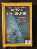 R.M.S. TITANIC: Set of seven National Geographic magazines - issues regarding the discovery of the
