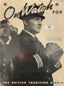 OCEAN LINER: Album of assorted White Star Line and Cunard Line paper ephemera items - M.V. Britannic