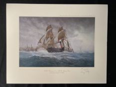 LIMITED EDITION PRINTS: Portfolio of Cunard Liners prints signed by the artists E. D. Walker and