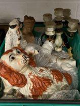 Late 19th cent & Later Ceramics: Includes Victoria & Albert Staffordshire flatback, comfort dogs,