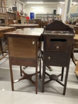 19th cent. Mahogany pot cupboard/washstand. 13ins. Plus mahogany pot cupboard, single drawer with