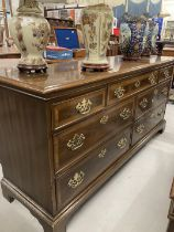 20th cent. Drexel reproduction George III style entertainment/TV stand/sideboard. 64ins. x 19ins.