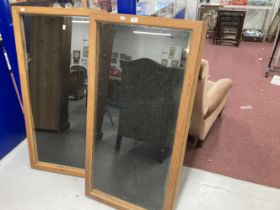 20th cent. Glazed pine counter top shop display cases. 48ins. x 24ins. (2)