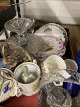 20th cent. Ceramics & Glass: Includes boxed Royal Worcester jam pot, and an unboxed example,