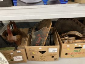 Treenware: 20th cent. Miscellaneous items to include assorted boxes and a cannon. (3 boxes)