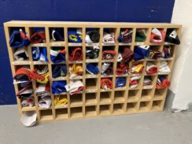 Flags & Banners: Collection of approx. 43 reproduction flags in bespoke storage solution. 60ins. x