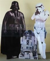 Star Wars: 'Life size' cardboard cut-outs from a private collection. Probably used for a foyer or