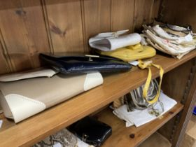 Fashion Handbags: Charles Jourdan evening box strap bag, gilt and white metal furnishings, leather