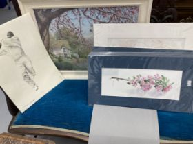 20th cent. Pictures and prints to include John Pengelly and Alec Wiles, Trish Scarlett and
