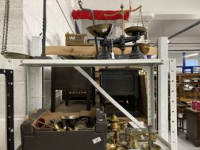 Scales, Weights & Measures/Metalware: 19th and 20th cent. Brass, copper and platedwares including