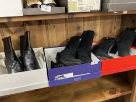 Fashion/Designer Shoes & Boots: Kurt Geiger Nappa leather black ankle boot, 2½ins heel, boxed,