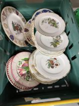 19th/20th Ceramics: Continental and other plates to include set of twelve, floral decorated.