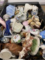 20th cent. Ceramics: Mixed Lot including Doulton, Staffordshire, Copenhagen plaque, etc. Plus