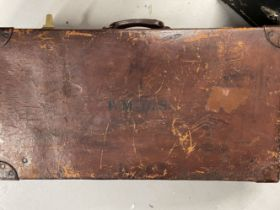 Late 19th/early 20th cent. Leather travelling case of good proportions. 31ins. x 9ins. x 17ins.