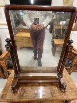 19th cent. Mahogany swing mirror.
