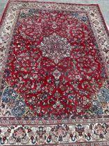 Carpets: 20th cent. Persian wool Hamadan Mahal. Approx. 13ft. x 9ft. 10ins.