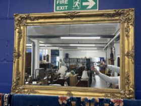 19th cent. Gilt frame with later mirror inset. 34ins. x 45ins.