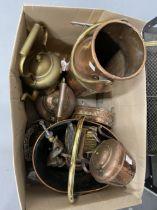 19th/20th cent. Copper & Brassware: Kettles, pots, coal bin, etc.
