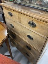 19th cent. Oak chest of drawers converted into a wine cabinet. 29ins. x 17ins.