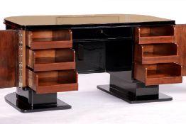 Schreibtisch, im ArtDéco-Stil, um 1950, Eiche u.