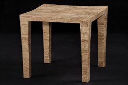 Beistelltisch, Untergestell Holz, Oberfläche mit