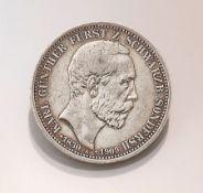 Silbermünze, 3 Mark, Deutsches Reich, 1909, Karl Günther