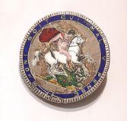 Silber Brosche Heiliger Georg Großbritannien, 1820, RV