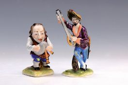 Zwei Porzellanfiguren, Pottschappel, 2.H.20.Jh.,