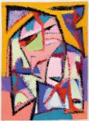 Jost Giese, geb. 1953, 'Die Maskischen', Tempera/Bütten,