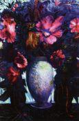 Ernst Fuchs, 1930-2015, Blumenbouquet, Giclee auf Lwd,