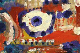 Otto Ditscher 1904 Neuhofen - 1987, Öl/Holz, abstrakte