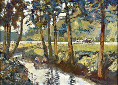 Lenkowski, Krakauer Maler, 20. Jh., Landschaft mit