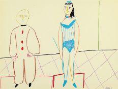 Pablo Picasso, 1881-1973, Farblithographie aus Verve,