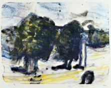 Klaus Fußmann, geb. 1938, Velbert, Lithografie,