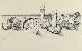 Günter Grass, 1927-2015, Pilze, Lithographie von 1981,