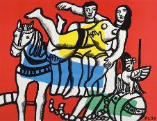 Fernand Leger, 1881-1955, zwei Farblithos Ed. Galerie