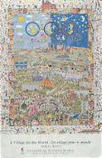 James Rizzi, 1950-2011, 'A Village for the World',