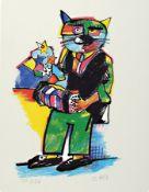 Otmar Alt, geb. 1940 Wernigerode, Farbserigraphie,