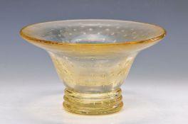 Vase, signiert Daum Nancy, France, 40er J., gelbliches