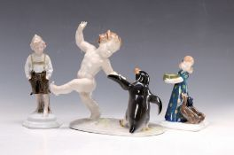 Drei Jugendstilfiguren, Rosenthal und Metzler & Orloff,