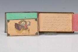 Album mit 15 Freundschaftskarten, deutsch, 1840er Jahre,