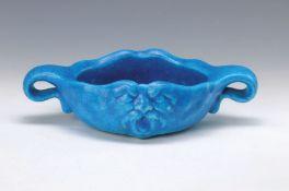 Schale, Edmond Lachenal, um 1910-20, Keramik, blau