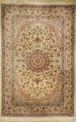 Esfahan fein, China, ca. 40 Jahre, Korkwolle auf Seide,